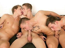 An Orgy Of Cock Sucking - David Gold, Chester Pool, Patrik Jensen & Thomas Fiaty