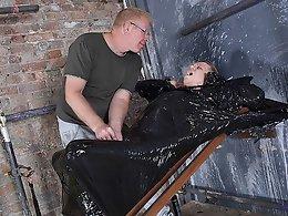 Twink Boy Cocooned In Plastic! - Chris Jansen andamp; Sebastian Kane