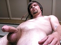 Pissing and Stroking With Hung Nolan - Nolan